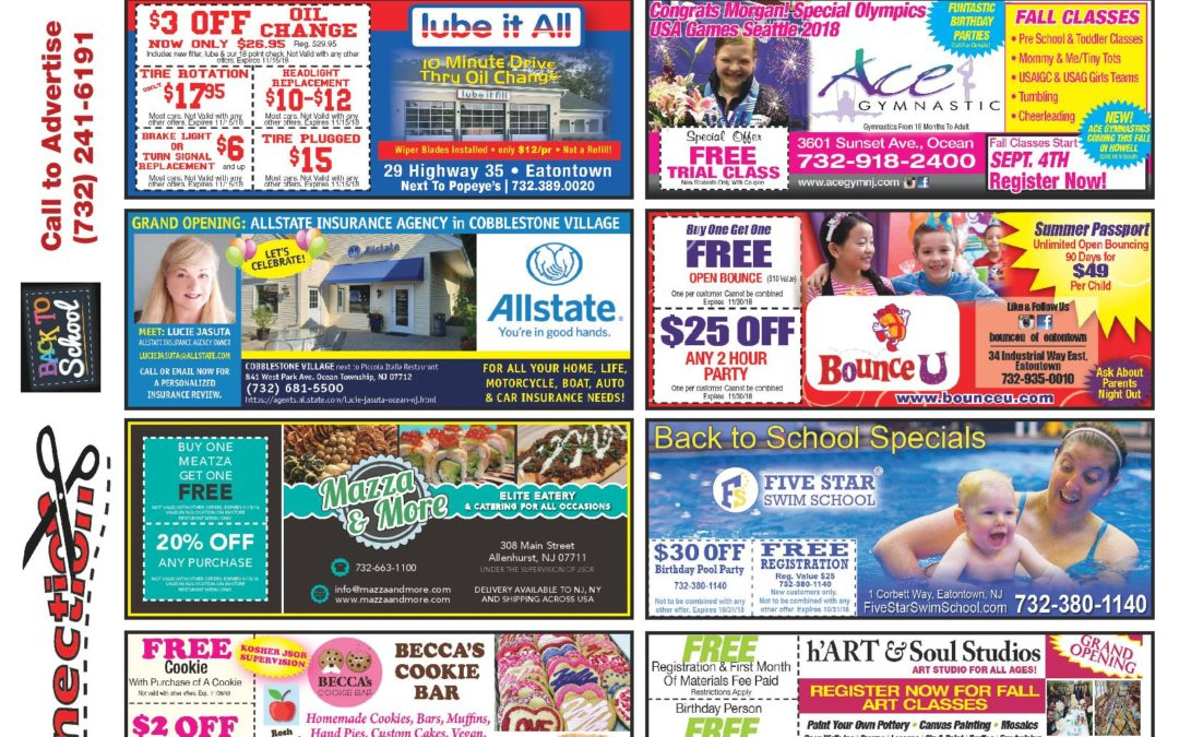 August/2018 Coupon Connection/Back 2 School – Click here to see coupons