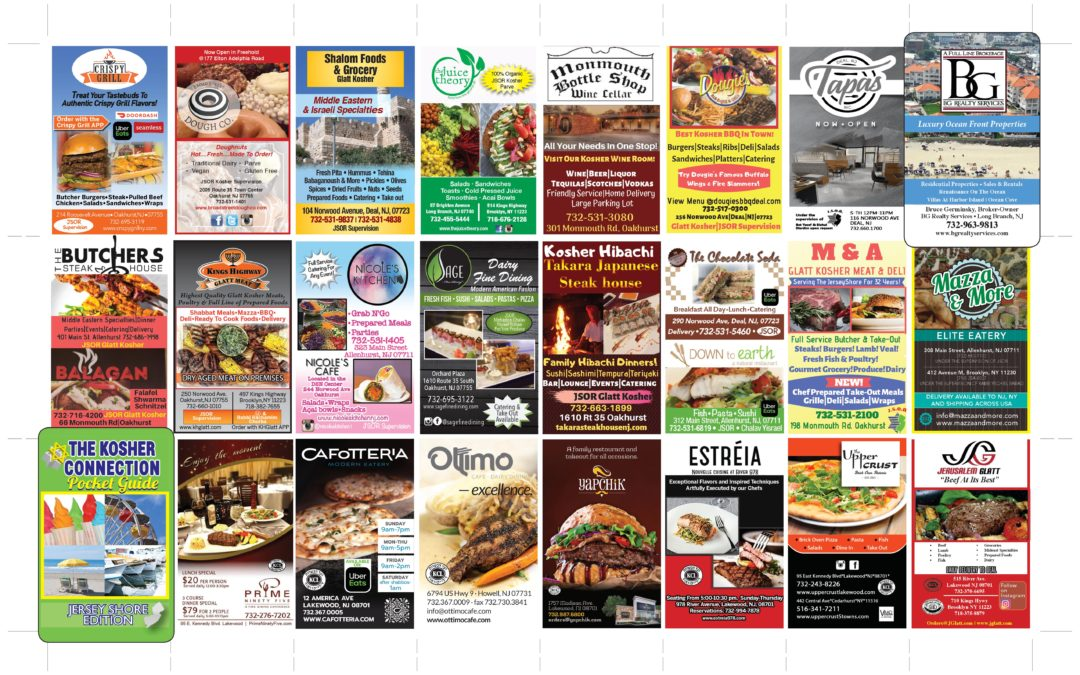 2019 Kosher Connection Pocket Guide…Click Here To See Ads