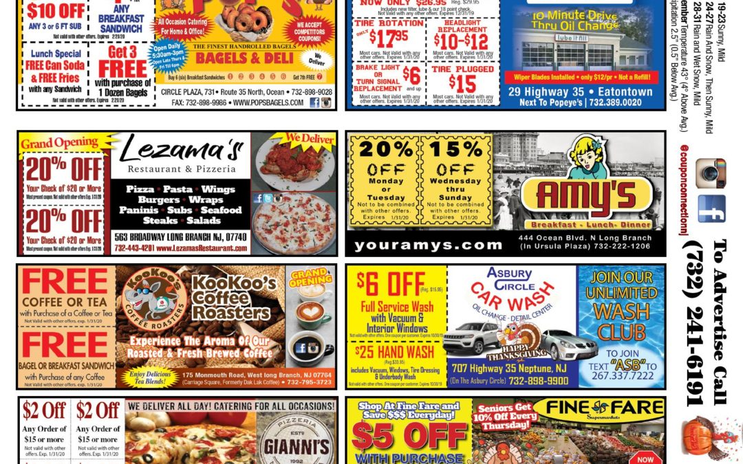 November/2019 Coupon Connection – Click Here To View Ads & Coupons