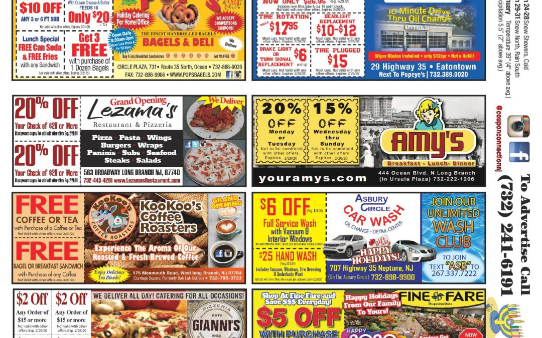 December/2019 Coupon Connection – Click Here To View Ads & Coupons
