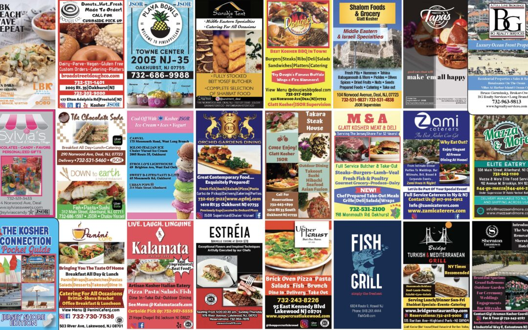 2020/2021 Kosher Connection Pocket Guide… Click Here to See Ads