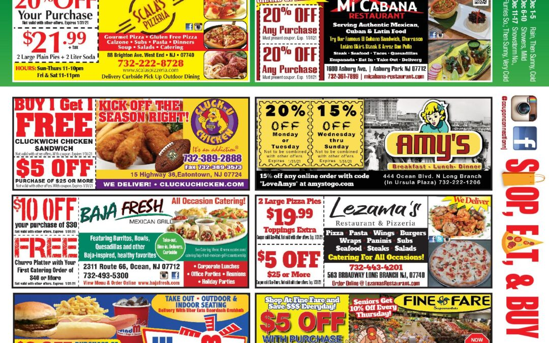 November/2020 Coupon Connection – Click Here  To See Coupons & Discounts